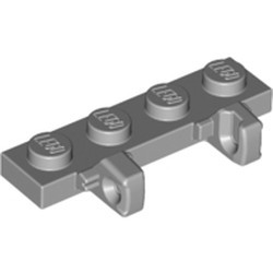 Light Bluish Gray Hinge Plate 1 x 4 Locking Dual 1 Fingers on Side - used