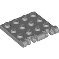 Light Bluish Gray Hinge Plate 3 x 4 Locking Dual 2 Finger, 7 Teeth