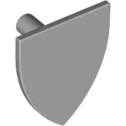 Light Bluish Gray Minifigure, Shield Triangular