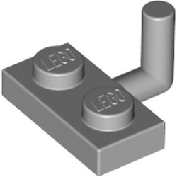 Light Bluish Gray Plate, Modified 1 x 2 with Bar Arm Up (Undetermined Horizontal Arm Length) - used