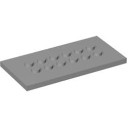 Light Bluish Gray Plate, Modified 4 x 8 with Studs in Center