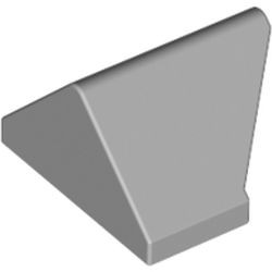 Light Bluish Gray Slope 45 2 x 1 Double / Inverted with Bottom Stud Holder