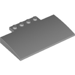 Light Bluish Gray Slope, Curved 5 x 8 x 2/3 with Four Studs