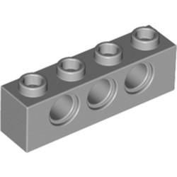 Light Bluish Gray Technic, Brick 1 x 4 with Holes - used