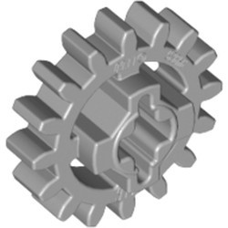 Light Bluish Gray Technic, Gear 16 Tooth (Second Version - Reinforced) - used