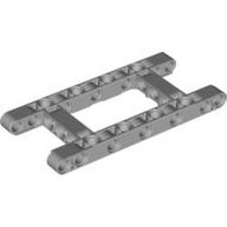 Light Bluish Gray Technic, Liftarm, Modified Frame Thick 5 x 11 Open Center
