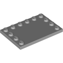 Light Bluish Gray Tile, Modified 4 x 6 with Studs on Edges