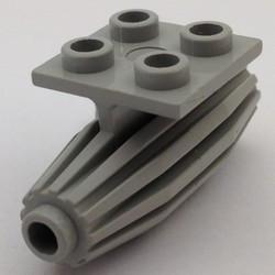 Light Gray Engine, Strakes, 2 x 2 Thin Top Plate