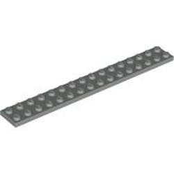 Light Gray Plate 2 x 16 - used