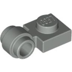 Light Gray Plate, Modified 1 x 1 with Light Attachment - Thick Ring
