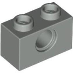 Light Gray Technic, Brick 1 x 2 with Hole
