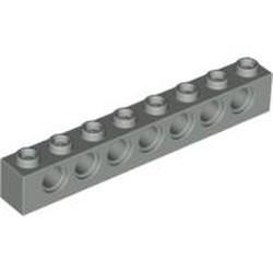 Light Gray Technic, Brick 1 x 8 with Holes - used