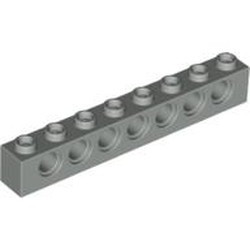Light Gray Technic, Brick 1 x 8 with Holes