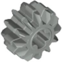 Light Gray Technic, Gear 12 Tooth Double Bevel - used