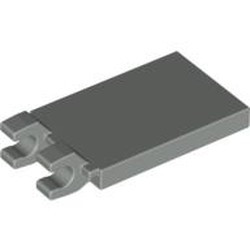 Light Gray Tile, Modified 2 x 3 with 2 Clips Angled - used
