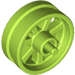 Lime Wheel 15mm D. x 6mm City Motorcycle