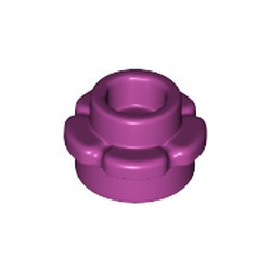 Magenta Plate, Round 1 x 1 with Flower Edge (5 Petals) - new