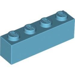 Medium Azure Brick 1 x 4