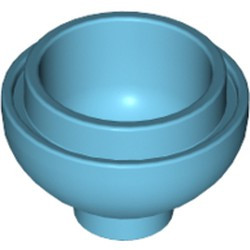 Medium Azure Brick, Round 2 x 2 Dome Bottom