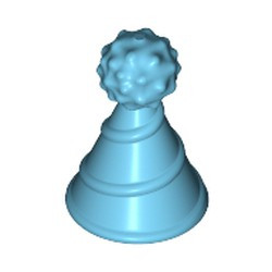 Medium Azure Minifigure, Hat with Pin Attachment, Party Hat