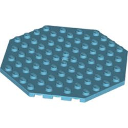 Medium Azure Plate, Modified 10 x 10 Octagonal with Hole