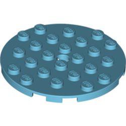 Medium Azure Plate, Round 6 x 6 with Hole