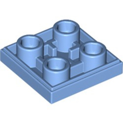 Medium Blue Tile, Modified 2 x 2 Inverted - new