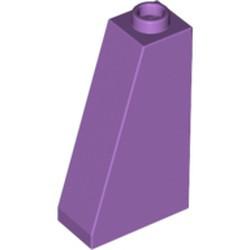 Medium Lavender Slope 75 2 x 1 x 3 - Hollow Stud - used