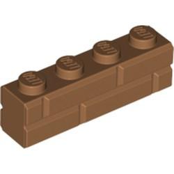 Medium Nougat Brick, Modified 1 x 4 with Masonry Profile