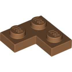 Medium Nougat Plate 2 x 2 Corner