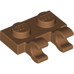 Medium Nougat Plate, Modified 1 x 2 with 2 Open O Clips (Horizontal Grip) - new