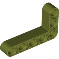 Olive Green Technic, Liftarm 3 x 5 L-Shape Thick - new