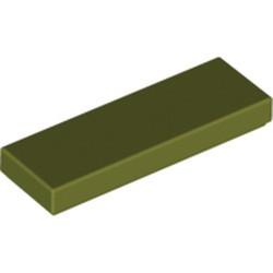 Olive Green Tile 1 x 3 - new