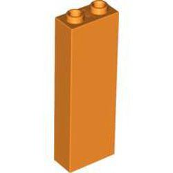 Orange Brick 1 x 2 x 5 - Blocked Open Studs or Hollow Studs