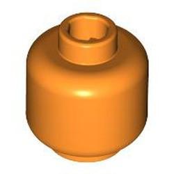 Orange Minifigure, Head (Plain) - new - Hollow Stud