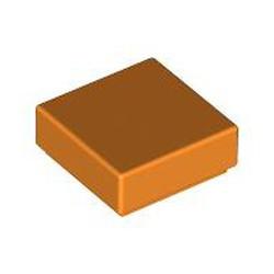 Orange Tile 1 x 1 with Groove (3070) - used
