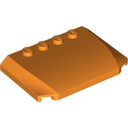 Orange Wedge 4 x 6 x 2/3 Triple Curved