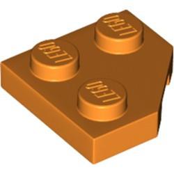 Orange Wedge, Plate 2 x 2 Cut Corner