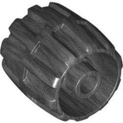 Pearl Dark Gray Wheel Hard Plastic Small (22mm D. x 24mm) - used