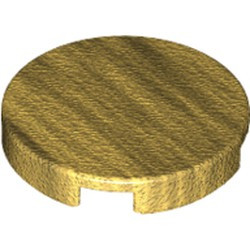 Pearl Gold Tile, Round 2 x 2 with Bottom Stud Holder - new