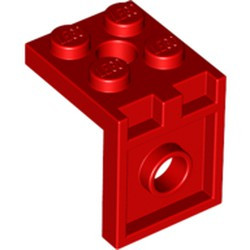 Red Bracket 2 x 2 - 2 x 2 with 2 Holes