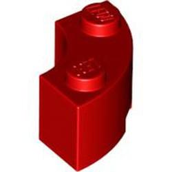 Red Brick, Round Corner 2 x 2 Macaroni with Stud Notch