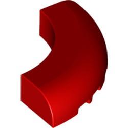 Red Brick, Round Corner 5 x 5 x 1 without Studs
