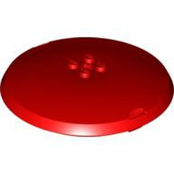 Red Container, X-Pod Top Cap 9 x 9 x 1 1/3 - used
