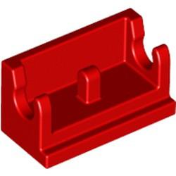Red Hinge Brick 1 x 2 Base - used