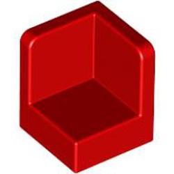 Red Panel 1 x 1 x 1 Corner - used