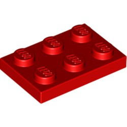 Red Plate 2 x 3 - new
