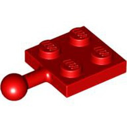 Red Plate, Modified 2 x 2 with Tow Ball - used