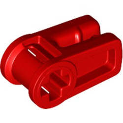 Red Technic, Axle and Wire Connector - new