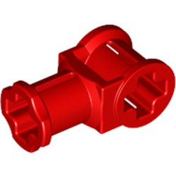 Red Technic, Axle Connector with Axle Hole - used